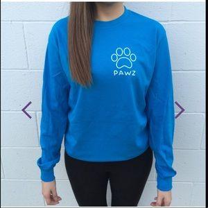 Long Sleeve Blue PAWZ shirt